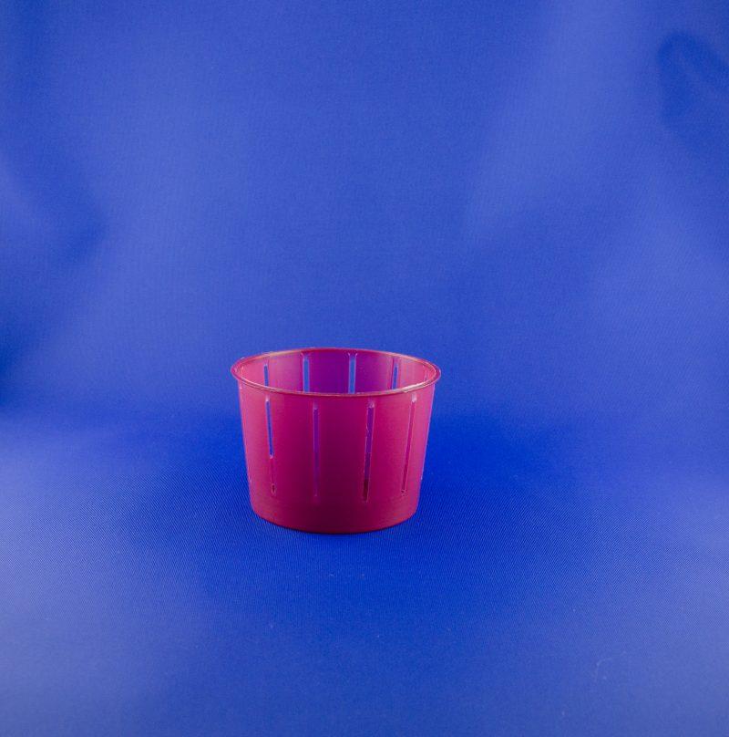 Fuscella ml 275 rosa con manico e rigatura verticale