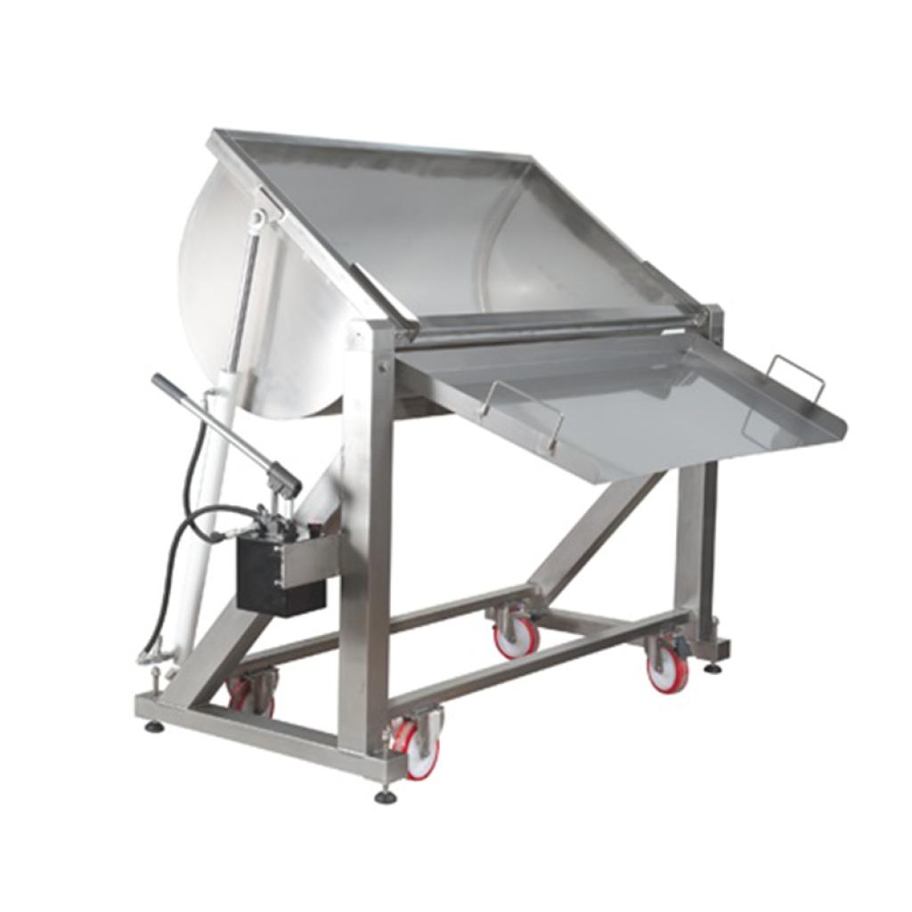 Polyvalent dairy machine, tilting version