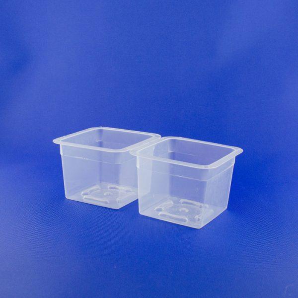 Vaschetta quadrata doppia ml 150+150